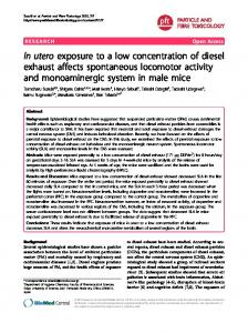 In utero exposure to a low concentration of diesel exhaust affects ...