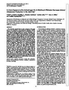 In Utero Exposure to the Antiandrogen Di-(2-Ethylhexyl) Phthalate ...
