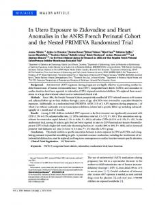 In Utero Exposure to Zidovudine and Heart ... - Oxford Journals
