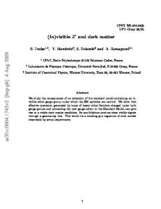 (In) visible Z'and dark matter