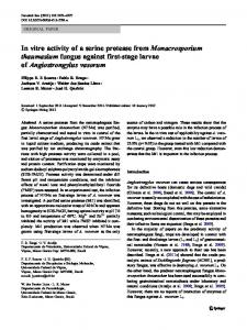 In vitro activity of a serine protease from ... - Springer Link