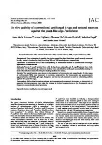In vitro activity of conventional antifungal drugs and ... - Oxford Journals