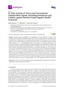 In Vitro Activity of Newer and Conventional Antimicrobial ... - MDPI