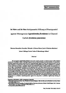In Vitro and In Vivo Antiparasitic Efficacy of Praziquantel ... - ThaiJO
