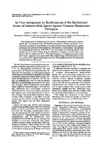 In Vitro Antagonism by Erythromycin of the Bactericidal Action of ...