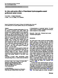 In vitro anti-caries effect of fluoridated hydroxyapatite ... - Springer Link