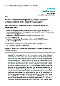 In-Vitro Antibacterial Properties of Crude Aqueous ... - Semantic Scholar