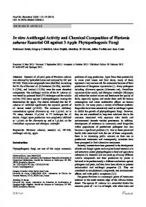 In vitro antifungal activity and chemical composition of ... - Springer Link