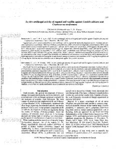 In vitro antifungal activity of eugenol and vanillin ...