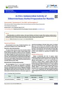 In-Vitro Antimicrobial Activity of - Juniper Publishers