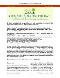 In Vitro Antimicrobial, Antiproliferative, and Antioxidant Activities of Bis ...