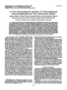 In Vitro Antimycobacterial Activities of 2-Monosubstituted ...