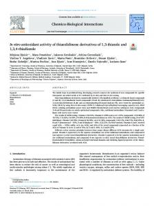 In vitro antioxidant activity of thiazolidinone ...