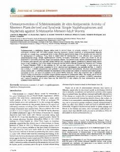 In vitro Antiparasitic Activity of Nineteen Plant-derived a