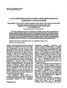 In vitro antiproliferative activity of saffron extracts ...
