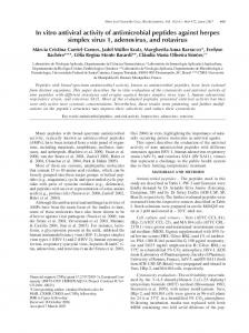 In vitro antiviral activity of antimicrobial peptides against ... - Scielo.br
