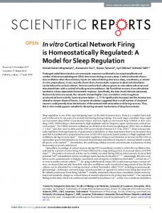 In vitro Cortical Network Firing is Homeostatically Regulated - Unil