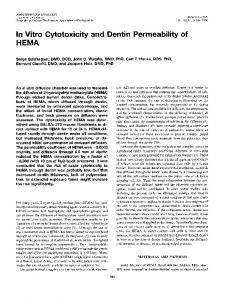 In Vitro Cytotoxicity and Dentin Permeability of HEMA - Journal of ...