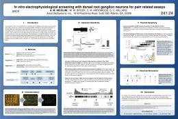 In vitro electrophysiological screening with dorsal root ganglion ...