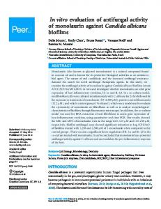 In vitro evaluation of antifungal activity of monolaurin against Candida ...