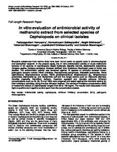 In vitro evaluation of antimicrobial activity of ... - Academic Journals