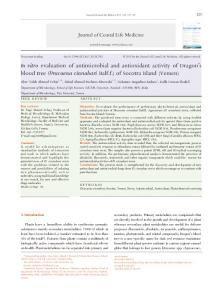 In vitro evaluation of antimicrobial and antioxidant activity of Dragon's