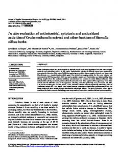 In vitro evaluation of antimicrobial, cytotoxic and ... - Semantic Scholar