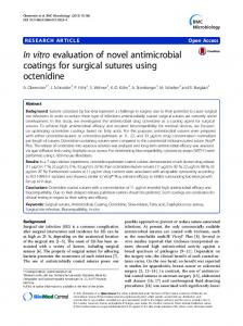 In vitro evaluation of novel antimicrobial coatings for ... - CiteSeerX