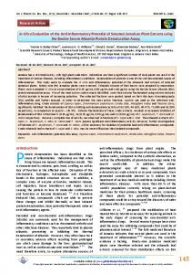 In-Vitro Evaluation of the Anti-Inflammatory Potential
