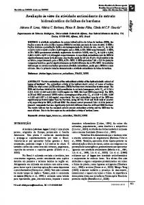 In vitro evaluation of the antioxidant activity of the hydroalcoholic ...