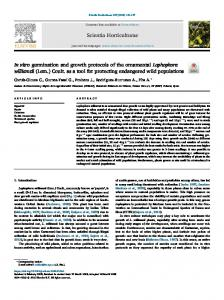 In vitro germination and growth protocols of the ...