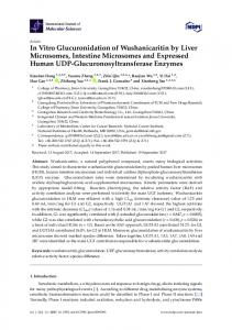In Vitro Glucuronidation of Wushanicaritin by Liver