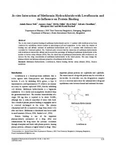 In vitro Interaction of Metformin Hydrochloride with Levofloxacin and its ...