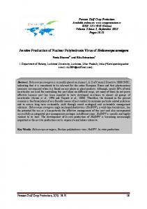 In vitro Production of Nuclear Polyhedrosis Virus of Helicoverpa ...