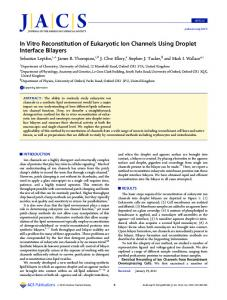 In Vitro Reconstitution of Eukaryotic Ion Channels Using Droplet
