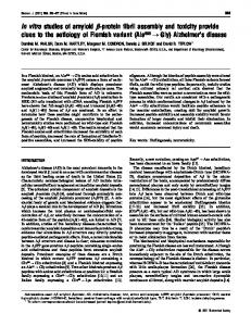 In vitro studies of amyloid β-protein fibril assembly and toxicity ... - NCBI
