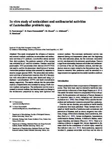 In vitro study of antioxidant and antibacterial activities ... - Springer Link