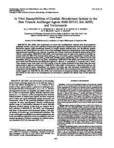 In Vitro Susceptibilities of Candida Bloodstream Isolates to the New ...