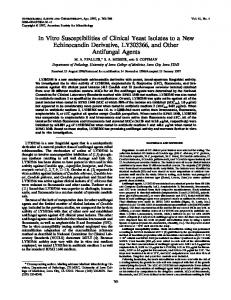 In Vitro Susceptibilities of Clinical Yeast Isolates to a New ...