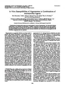 In Vitro Susceptibilities of Zygomycetes to Combinations of ...