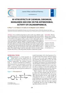 in-vitroeffects of cadmium, chromium, manganese and zinc on the