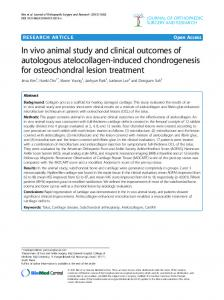 In vivo animal study and clinical outcomes of ... - Springer Link
