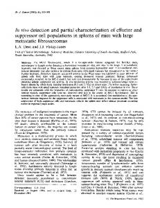 In vivo detection and partial characterization of effector and ... - NCBI