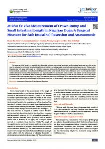 In Vivo Ex-Vivo Measurement of Crown-Rump and