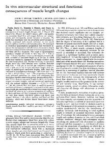 In vivo microvascular structural and functional consequences of ...