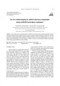 In-vivo retinal imaging by optical coherence tomography ... - CiteSeerX