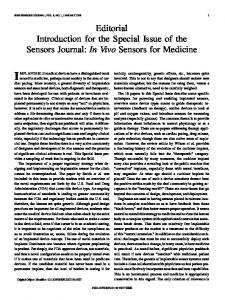 In Vivo Sensors for Medicine - IEEE Xplore