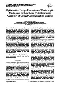in Wireless Optical Communication Networks