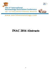 INAC 2016 Abstracts
