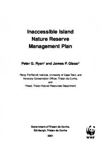 Inaccessible Island Nature Reserve Management Plan - UK Overseas ...
